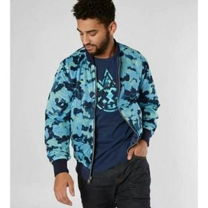 Cult of individuality Mens Reversible Jacket Blue